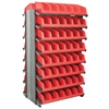 Akro-Mils 12 2-Sided Pick Rack, 20 System Bins, Gray/Red
