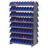 2-Sided Pick Rack, 128 Indicator Bins, Gray/Blue/Orange
