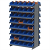 Akro-Mils 12 2-Sided Pick Rack, 80 Indicator Bins, Gray/Blue/Orange
