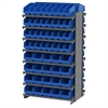 Akro-Mils 12 2-Sided Pick Rack, 80 ShelfMax, Gray/Blue