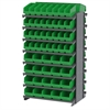 12 2-Sided Pick Rack, 80 ShelfMax, Gray/Green