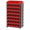 Akro-Mils 12 2-Sided Pick Rack, 80 ShelfMax, Gray/Red