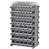 Akro-Mils 12 2-Sided Pick Rack, 80 ShelfMax, Gray/Clear
