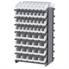 12 2-Sided Pick Rack, 80 ShelfMax, Gray/White