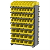 Akro-Mils 12 2-Sided Pick Rack, 80 ShelfMax, Gray/Yellow