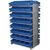 12 2-Sided Pick Rack, 100 AkroDrawers, Gray/Blue
