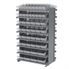 Akro-Mils 12 2-Sided Pick Rack, 100 AkroDrawers, Gray/Clear