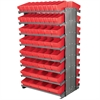 12 2-Sided Pick Rack, 100 AkroDrawers, Gray/Red