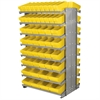 Akro-Mils 12 2-Sided Pick Rack, 100 AkroDrawers, Gray/Yellow