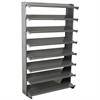 Akro-Mils 12 1-Sided Pick Rack, No Bins, Gray