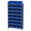 Akro-Mils 12 1-Sided Pick Rack, 24 ShelfMax, Gray/Blue