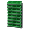 12 1-Sided Pick Rack, 24ShelfMax, Gray/Green