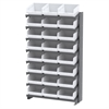 12 1-Sided Pick Rack, 24ShelfMax, Gray/White