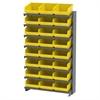 Akro-Mils 12 1-Sided Pick Rack, 24 ShelfMax, Gray/Yellow