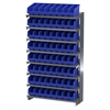 12 1-Sided Pick Rack, 64 ShelfMax, Gray/Blue
