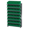 12 1-Sided Pick Rack, 64ShelfMax, Gray/Green