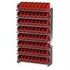 Akro-Mils 12 1-Sided Pick Rack, 64 ShelfMax, Gray/Red
