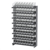 Akro-Mils 12 1-Sided Pick Rack, 64 ShelfMax, Gray/Clear