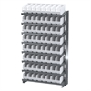 12 1-Sided Pick Rack, 64ShelfMax, Gray/White