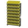 Akro-Mils 12 1-Sided Pick Rack, 64 ShelfMax, Gray/Yellow