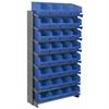 Akro-Mils 12 1-Sided Pick Rack, 32 ShelfMax, Gray/Blue