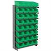 Akro-Mils 12 1-SidedPick Rack, 32 ShelfMax, Gray/Green