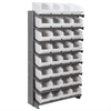 12 1-Sided Pick Rack, 32ShelfMax, Gray/White