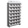 Akro-Mils 12 1-Sided Pick Rack, 32ShelfMax, Gray/White