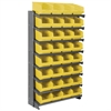 Akro-Mils 12 1-Sided Pick Rack, 32 ShelfMax, Gray/Yellow