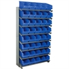 Akro-Mils 12 1-SidedPick Rack, 40 ShelfMax, Gray/Blue