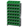 12 1-SidedPick Rack, 40 ShelfMax, Gray/Green