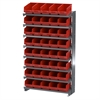 12 1-Sided Pick Rack, 40 ShelfMax, Gray/Red