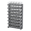 12 1-Sided Pick Rack, 40 ShelfMax, Gray/Clear
