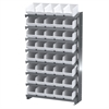 12 1-Sided Pick Rack, 40ShelfMax, Gray/White