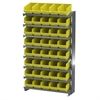 12 1-Sided Pick Rack, 40 ShelfMax, Gray/Yellow