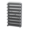 Akro-Mils 12 1-Sided Pick Rack, 96 Shelf Bins, Gray/Clear