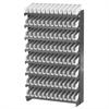 12 1-Sided Pick Rack, 96 Shelf Bins, Gray/White