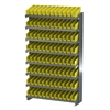 Akro-Mils 12 1-Sided Pick Rack, 96 Shelf Bins, Gray/Yellow