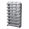 Akro-Mils 12 1-Sided Pick Rack, 24 AkroDrawers, Gray/Clear