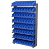 12 1-Sided Pick Rack, 72 Shelf Bins, Gray/Blue