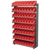 Akro-Mils 12 1-Sided Pick Rack, 72 Shelf Bins, Gray/Red