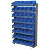 Akro-Mils 12 1-Sided Pick Rack, 48 Shelf Bins, Gray/Blue