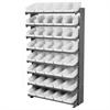 Akro-Mils 12 1-Sided Pick Rack, 48 Shelf Bins, Gray/White