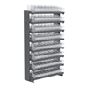 12 1-Sided Pick Rack, 72 AkroDrawers, Gray/Clear