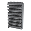 Akro-Mils 12 1-Sided Pick Rack, 72 AkroDrawers, Gray