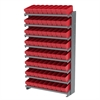 12 1-Sided Pick Rack, 72 AkroDrawers, Gray/Red
