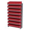 Akro-Mils 12 1-Sided Pick Rack, 72 AkroDrawers, Gray/Red