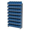 Akro-Mils 12 1-SidedPick Rack, 48 AkroDrawers, Gray/Blue