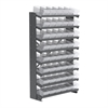 12 1-SidedPick Rack, 48 AkroDrawers, Gray/Clear