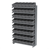 12 1-SidedPick Rack, 48 AkroDrawers, Gray